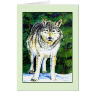 Wolf Wilderness Greeting Card