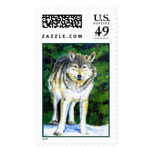 Wolf Wilderness Stamp