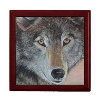 wolf wildlife painting realist art gift box