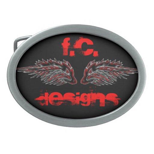 Wolf Wings Belt Buckle