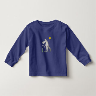 Wolf with flower toddler t-shirt