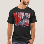 Wolf with red sky T-Shirt