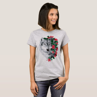 Wolf with the roses T-Shirt