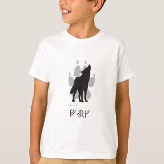 Wolf with viking rune T-Shirt