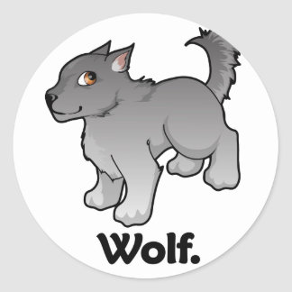Wolf. Wolf Sticker