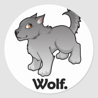 Wolf. Wolf Round Sticker