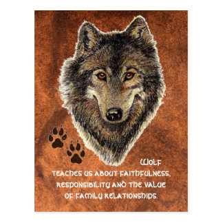 Wolf, Wolves Animal Totem, Nature Guide Postcard