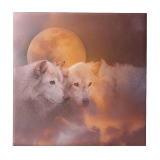 Wolf Wolves Artwork Ceramic Tile