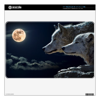 "Wolf Wolves Howling at the Full Moon Decal For 11"" MacBook Air"