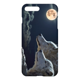Wolf Wolves Howling at the Full Moon iPhone 7 Plus Case
