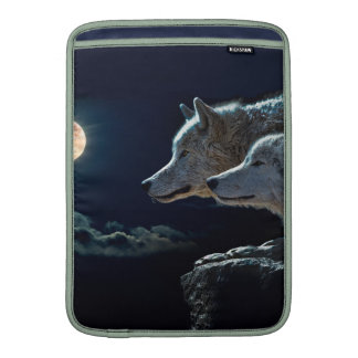 Wolf Wolves Howling at the Full Moon MacBook Air Sleeve