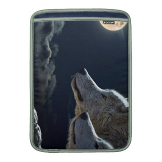 Wolf Wolves Howling at the Full Moon MacBook Sleeve