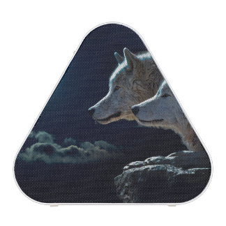 Wolf Wolves Howling at the Full Moon Speaker