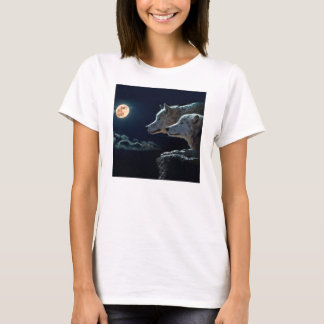 Wolf Wolves Howling at the Full Moon T-Shirt