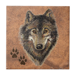 Wolf, Wolves,  Nature, Wildlife, Watercolor Animal Tiles