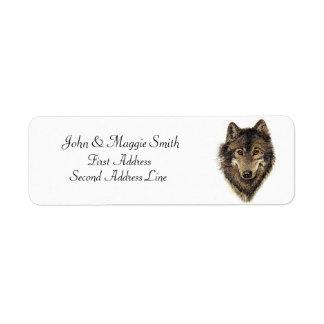Wolf, Wolves, Wild Animal, Nature, Return Address Label