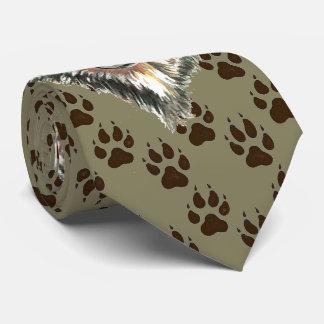 Wolf, Wolves Wild Animal Tracks Footprints Neck Tie