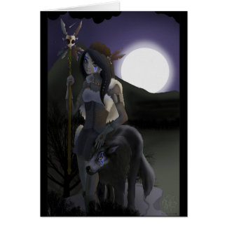 Wolf Woman Card