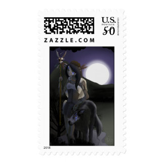 Wolf Woman Postage