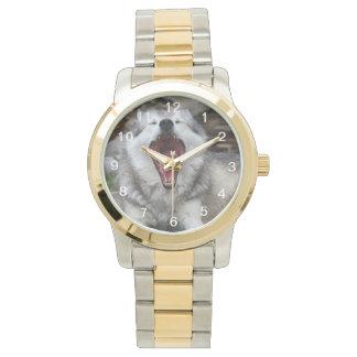 wolf wristwatch