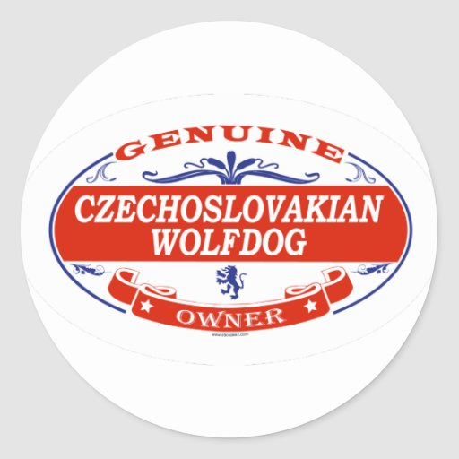 Wolfdog checoslovaco pegatina redonda