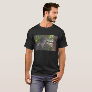 Wolfdog pup in fall T-Shirt
