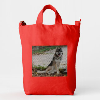 Wolfdogs are special too duck bag