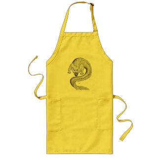 Wolfdragon black and white Design Long Apron