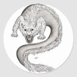 Wolfdragon black and white Design Stickers