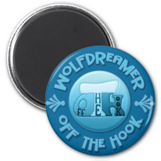 WolfDreamer - Off The Hook Crochet 2 Inch Round Magnet