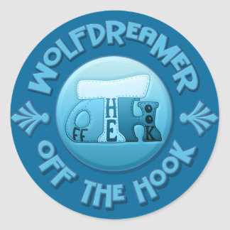 WolfDreamer - Off The Hook Crochet Classic Round Sticker