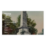 Wolfe and Montcalm monument, Quebec rare Photochro Business Card