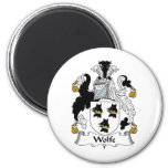 Wolfe Family Crest Refrigerator Magnets