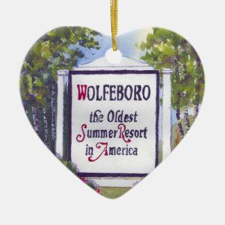 Wolfeboro NH Heart Shape Ornament