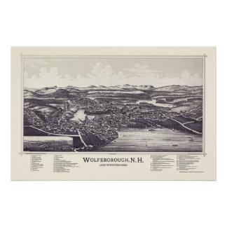 Wolfeborough, NH (Wolfeboro) Panoramic Map - 1889 Poster