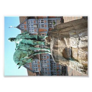 Wolfenbüttel, rider monument photo print