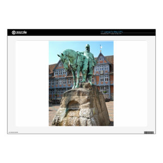 "Wolfenbüttel, rider monument (Wolfenbuettel) Skins For 17"" Laptops"