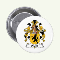Wolff Family Crest Button