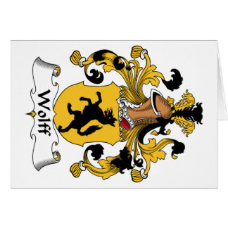Wolff Family Crest Card