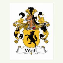 Wolff Family Crest Postcard