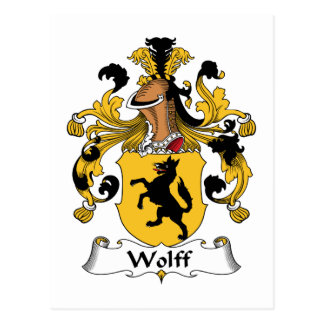 Wolff Family Crest Postcard