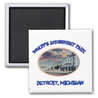 Wolff's Amusement Park 2 Inch Square Magnet