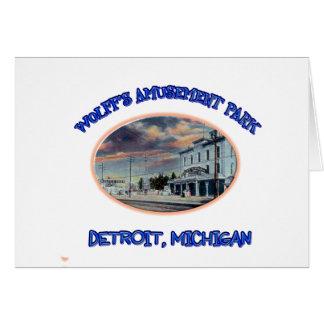 Wolff's Amusement Park Card