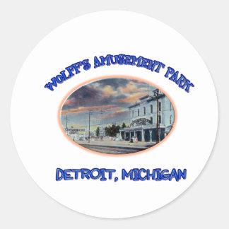 Wolff's Amusement Park Classic Round Sticker
