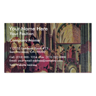 Wolfgang Altar Inside The Left Wing Scene Below: Double-Sided Standard Business Cards (Pack Of 100)