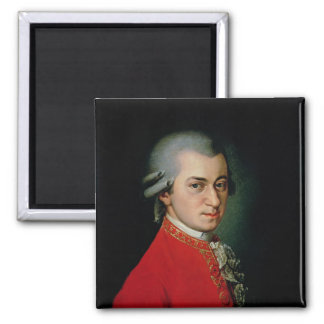 Wolfgang Amadeus Mozart, 1818 2 Inch Square Magnet
