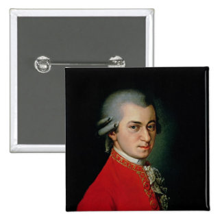 Wolfgang Amadeus Mozart, 1818 Pin Cuadrado
