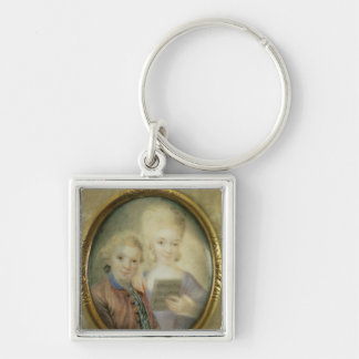 Wolfgang Amadeus Mozart  and his sister Keychain