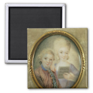 Wolfgang Amadeus Mozart  and his sister 2 Inch Square Magnet