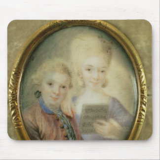 Wolfgang Amadeus Mozart  and his sister Mouse Pad